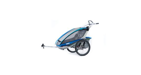Thule Chariot CX 2 + fietsset blauw